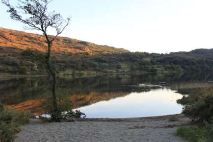 Autumn evening at Llyn Gwynant campsite October 2009